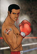Gay Digital Art Originals - Boxing Julian by David Cantero