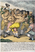 Boxing Framed Prints - Boxing Match, 1812 Framed Print by Granger