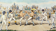 Boxing Framed Prints - Boxing Match, 1821 Framed Print by Granger