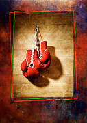 Hanging Pyrography Prints - Boxing Print by Mauro Celotti