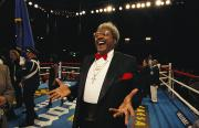 Recreational Structures Posters - Boxing Promoter Don King In The Boxing Poster by Maria Stenzel