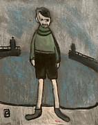 Postal Originals - Boy and harbour by Peter  McPartlin