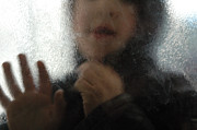 Childhood Art - Boy behind glass by Matthias Hauser