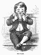 1876 Prints - Boy Eating Print by Granger