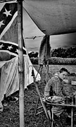 Confederate Flag Prints - Boy in Rebel Camp Print by Ercole Gaudioso