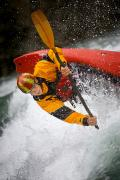 Preteen Posters - Boy Kayaking Poster by Richard Wear