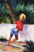 Chuck Creasy - Boy leaning on wall