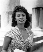 1950s Portraits Photo Metal Prints - Boy On A Dolphin, Sophia Loren, 1957 Metal Print by Everett