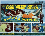 Films By Jean Negulesco Framed Prints - Boy On A Dolphin, Sophia Loren, Alan Framed Print by Everett