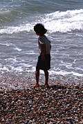 Boy On The Beach Print by Terry Beecher