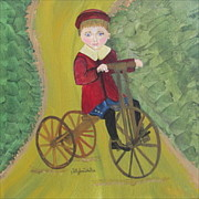 Sally Rice - Boy On Wooden Bike