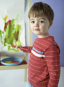 Old Paint Framed Prints - Boy Painting Framed Print by Ian Boddy