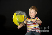 Popping Photos - Boy Popping A Balloon by Ted Kinsman