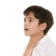 Brown Hair Posters - Boy With A Sore Throat Poster by