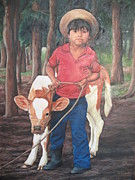 Judith Zur - Boy with calf