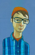Looking At Camera Digital Art - Boy With Glasses by Jenny Meilihove