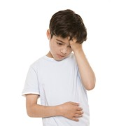 10:11 Prints - Boy With Stomach Pain Print by