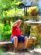 Benches Art - Boy With Yoyo by Susan Savad