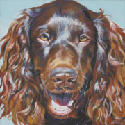 Mahogany Red Painting Prints - Boykin Spaniel Print by Lee Ann Shepard