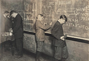 Lewis Wickes Hine Prints - Boys At School, Vocational Printing Print by Everett