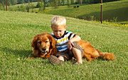 Dog Photographs Prints - Boys Best Friend Print by Carmen Del Valle