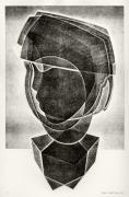 Relief Print Art - Boys Head by Alex Kveton