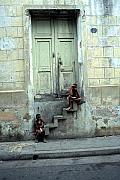 Santiago Cuba Prints - Boys On Stairs Print by Marcus Best