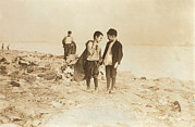 Lewis Wickes Hine Prints - Boys Picking Garbage From The Dump Print by Everett