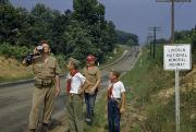 Watching Over Metal Prints - Boys Scouts Hiking Rural Road Watch Metal Print by William Ralph Gray