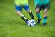 Kicking Prints - Boys Soccer Print by John Greim