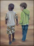 Holding Hands Pastels - Boys by Teresa  Harris