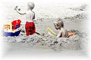 Boys Will Be Boys At The Beach Nj Print by Gwenn Dunlap