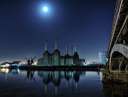 British Culture Prints - Bps By Moonlight Print by Michael Murphy