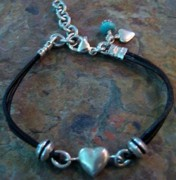 Silver Turquoise Jewelry - Bracelet J62 by Jennifer McDougal