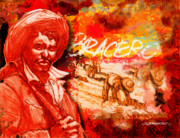 Train Mixed Media - Bracero by Dean Gleisberg