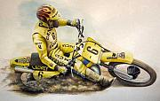 Suzuki Paintings - Brad Lackey by Harry Miller