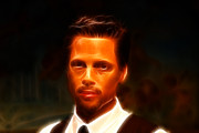 Superstar Photo Prints - Brad Pitt II  Print by Lee Dos Santos