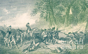 Historical Battle Framed Prints - Braddocks Defeat, 1755 Framed Print by Photo Researchers