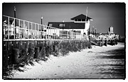 Winter Prints Posters - Bradley Beach Boardwalk Poster by John Rizzuto