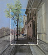 Milwaukee Originals - Brady Street with Tree layered by Anita Burgermeister