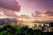 Hong Kong Framed Prints - Braemar Hill Sunset Framed Print by Dragon For Real