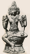 Religious Art Prints - Brahma, Hindu God Print by Photo Researchers