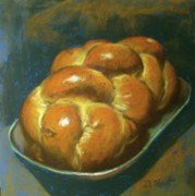 Bread Paintings - Braid of Life by Donna Shortt