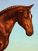 Horse Prints - Braided Print by James W Johnson