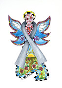 Peace Dove Mixed Media - Brain Cancer Grey Ribbon Angel by Lisa Frances Judd