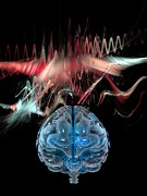 Thought Power Posters - Brain Wave, Conceptual Artwork Poster by Laguna Design