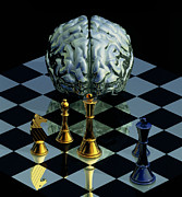 Chess Posters - Brainpower Poster by Laguna Design