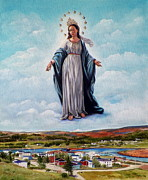 Virgin Mary Paintings - Branch    St Marys Bay   Newfoundland by RB McGrath