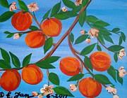 Branch Of Peaches Print by Elizabeth Janus