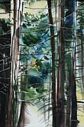 Cedars Paintings - Branch Patterns II by Kate Peper